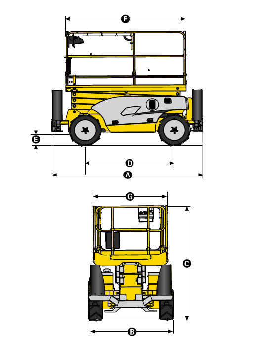 Haulotte Compact 12 DX maße
